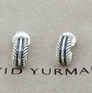 David Yurman Sterling Silver Hoop Earrings